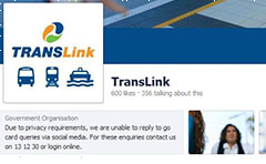 Picture of the TransLink facebook page